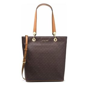 NWT! Michael Kors Raven Large NS Top Zip Tote
